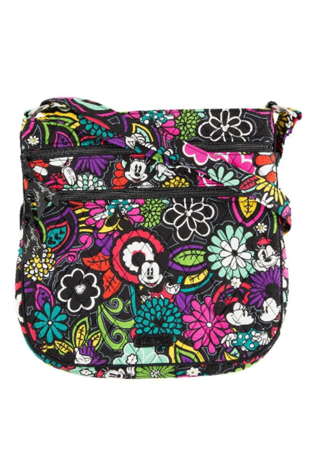 Vera Bradley Disney Magical-Blooms Triple-Zip - Front Cropped Image