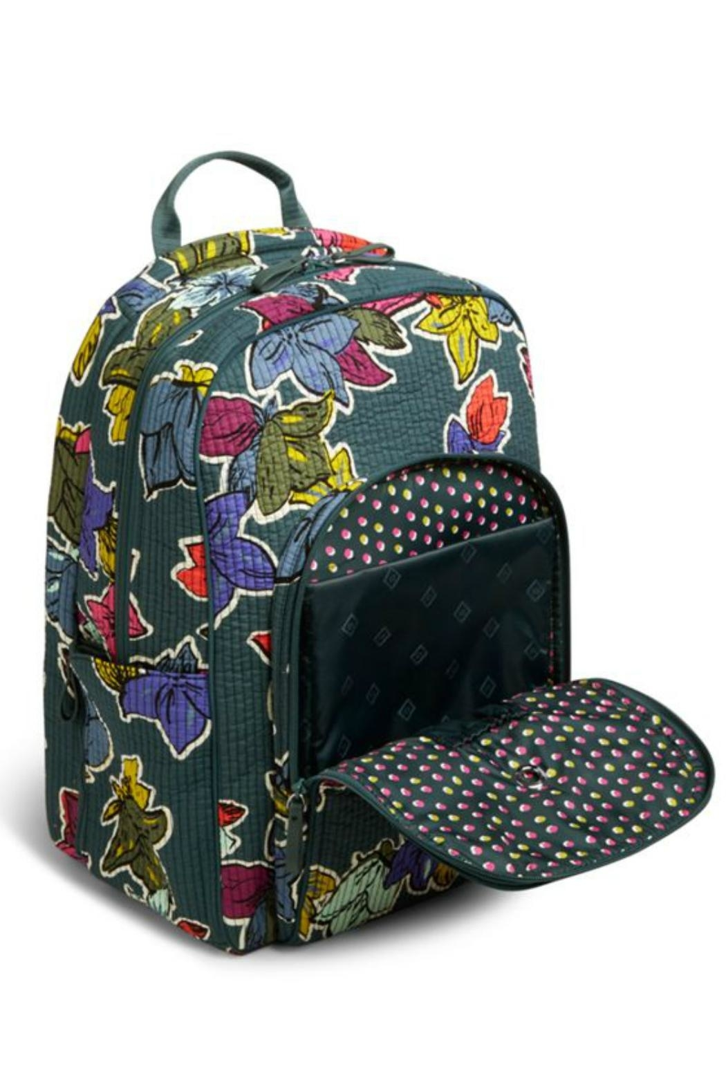 Vera Bradley Falling Flowers Delux-Campus - Back Cropped Image