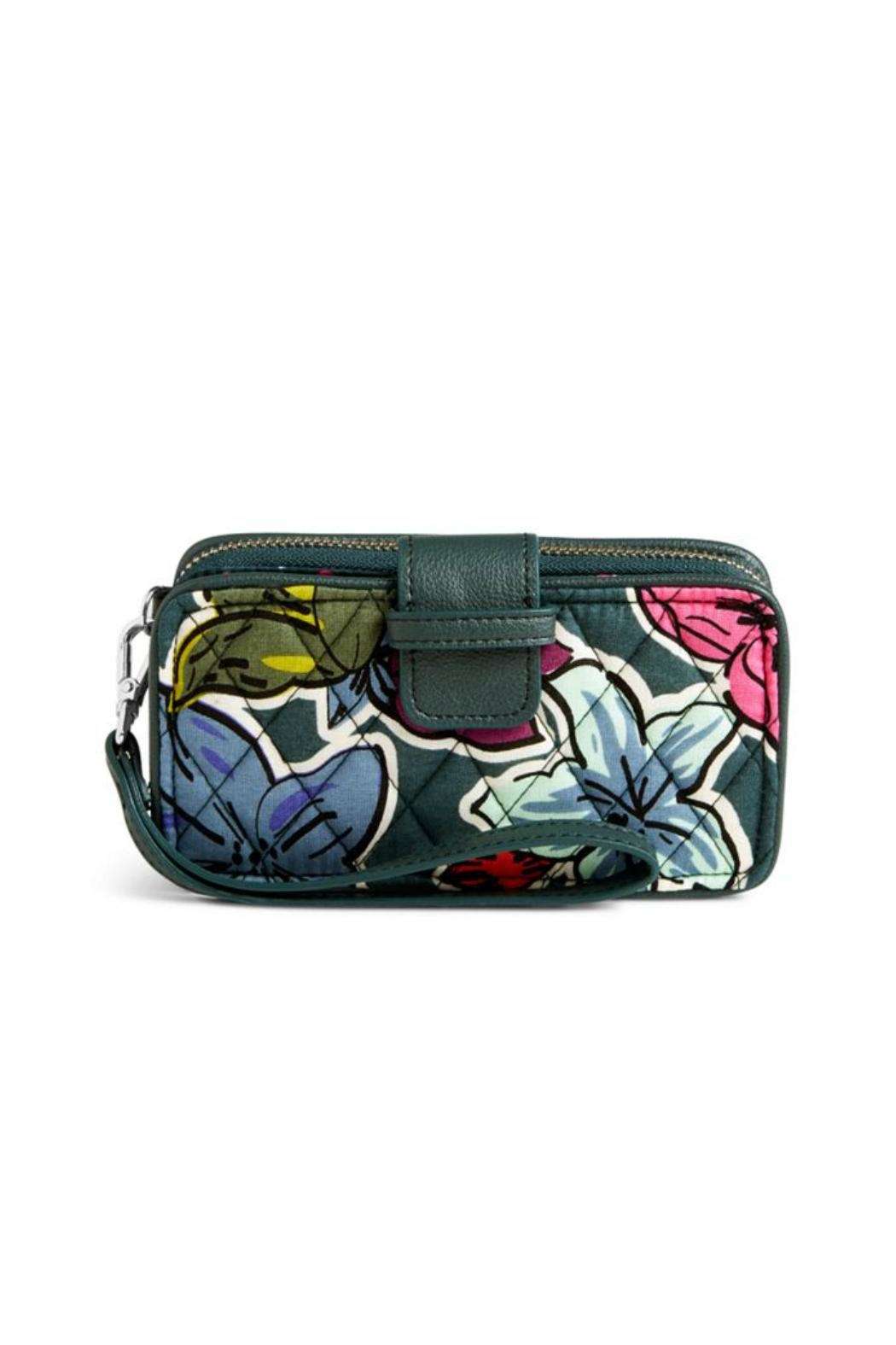 Vera Bradley Falling Flowers Wristlet - Front Cropped Image