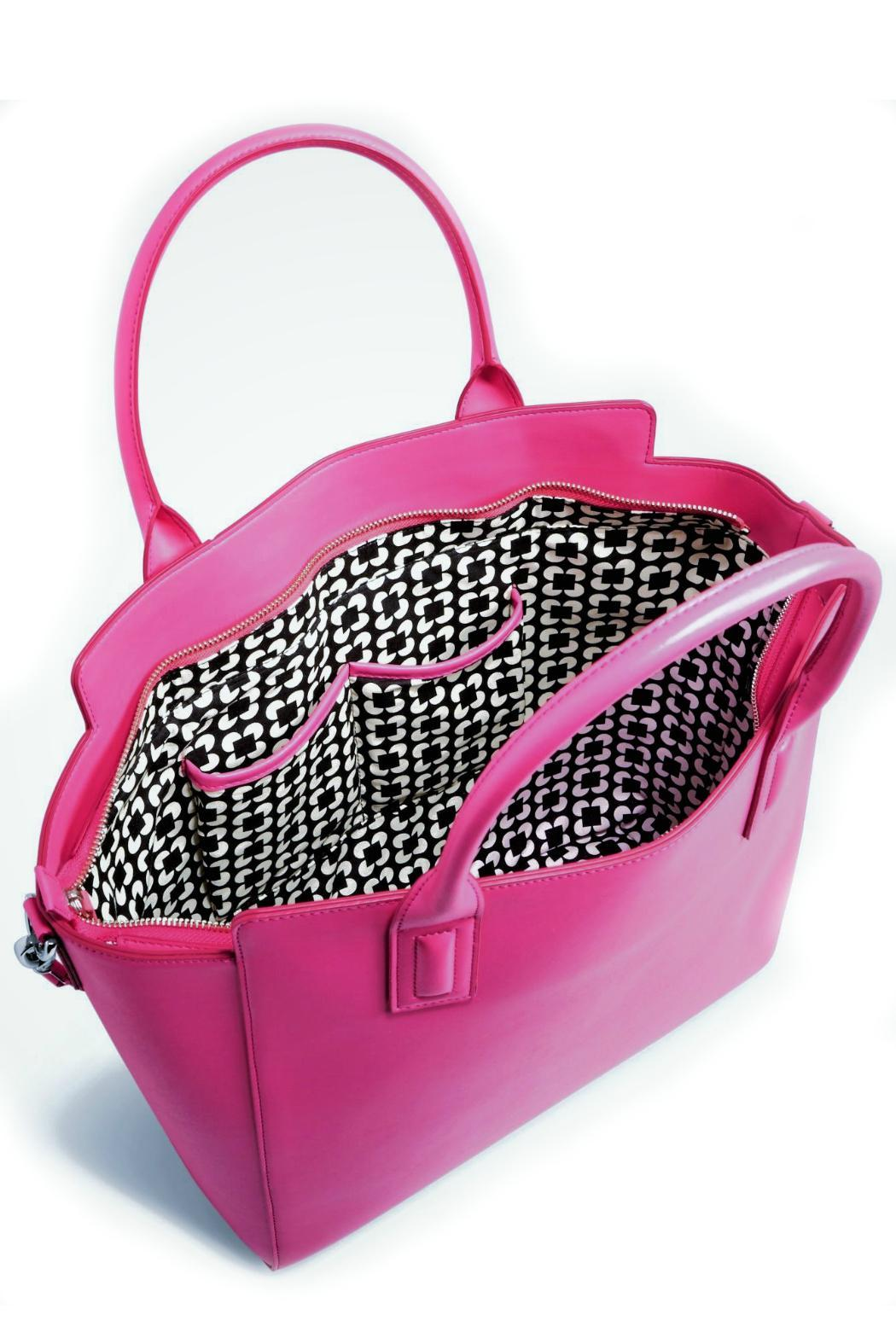 Vera Bradley Faux Leather Fuchsia Totes - Side Cropped Image