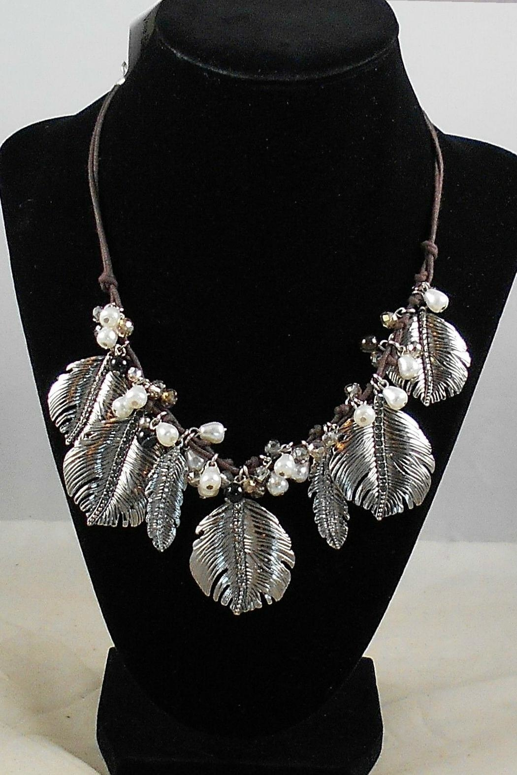 Vera Bradley Feathers Statement Necklace - Side Cropped Image