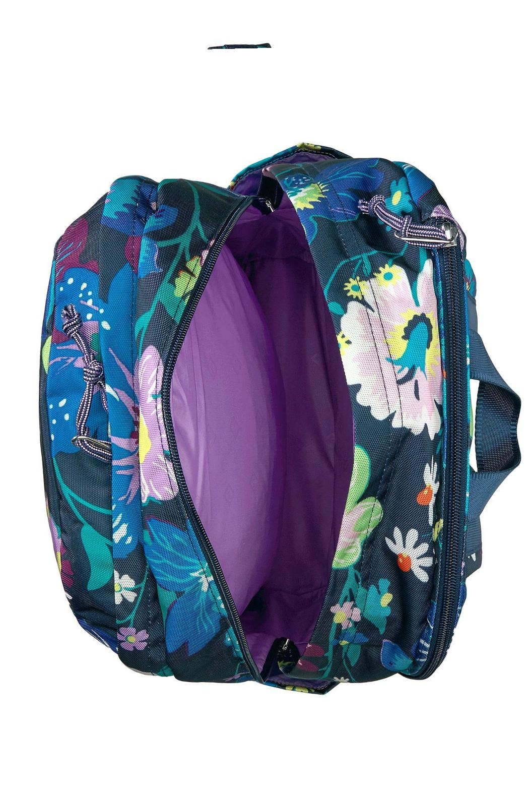 Vera Bradley Firefly Garden Grand-Backpack - Back Cropped Image