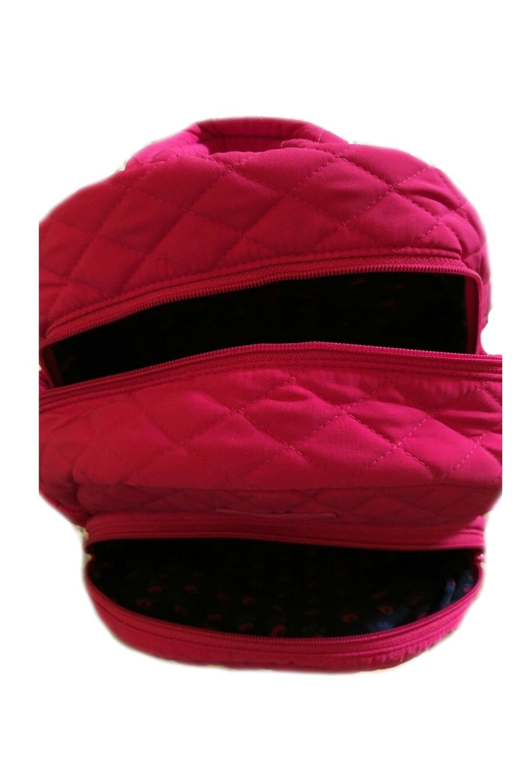 Vera Bradley Fuchsia Compact Essential-Backpack - Side Cropped Image