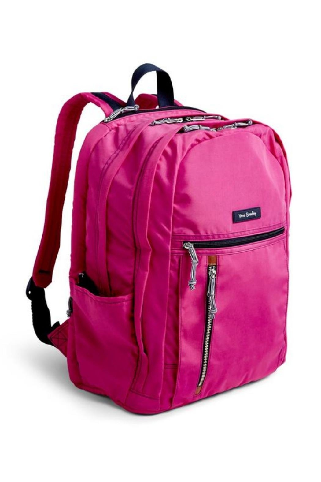 Vera Bradley Orchid Grand Laptop-Backpack - Front Full Image