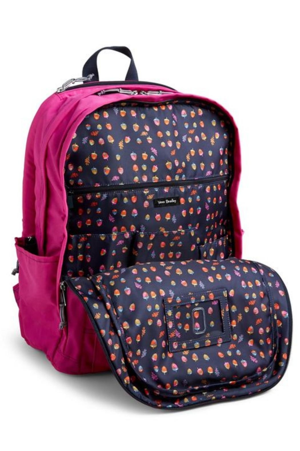 Vera Bradley Orchid Grand Laptop-Backpack - Back Cropped Image