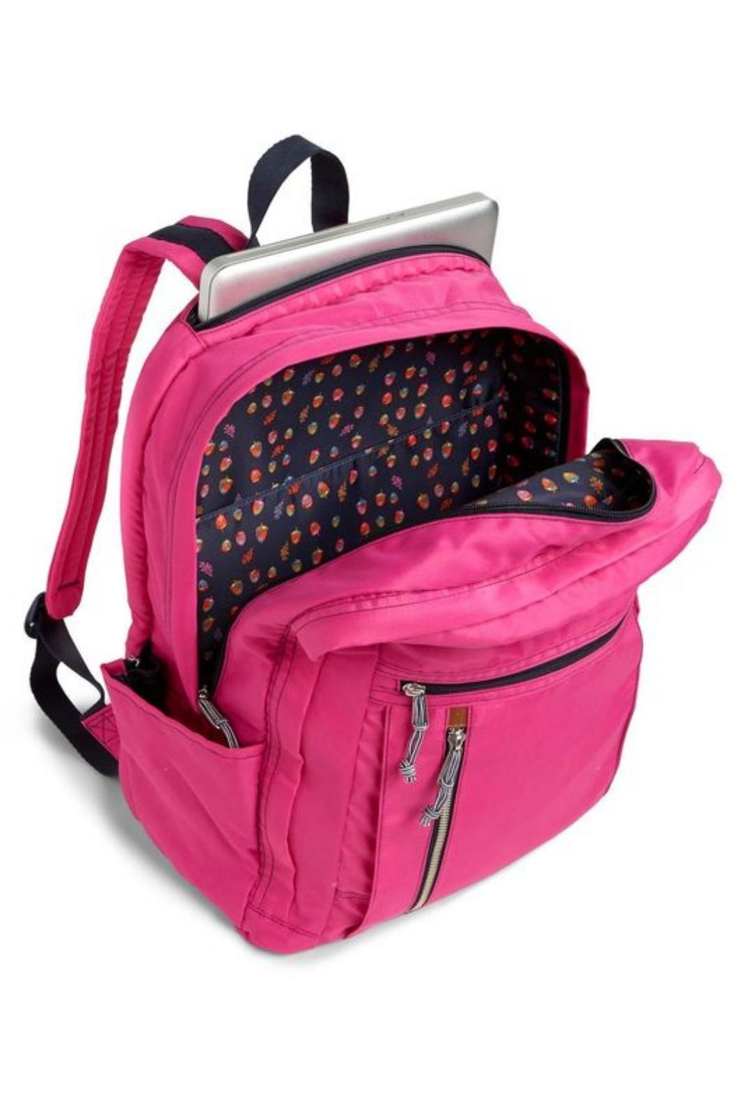 Vera Bradley Orchid Grand Laptop-Backpack - Side Cropped Image