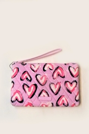 Vera Bradley Hearts Iced Pink Escapade Wristlet - Product Mini Image