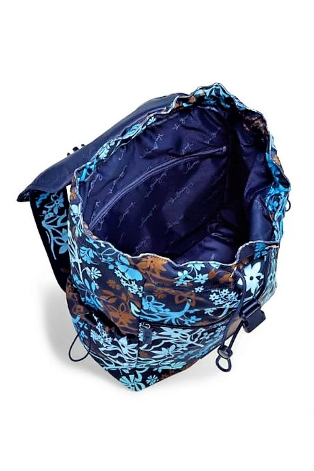 Vera Bradley Java Floral Drawstring Backpack - Side Cropped Image