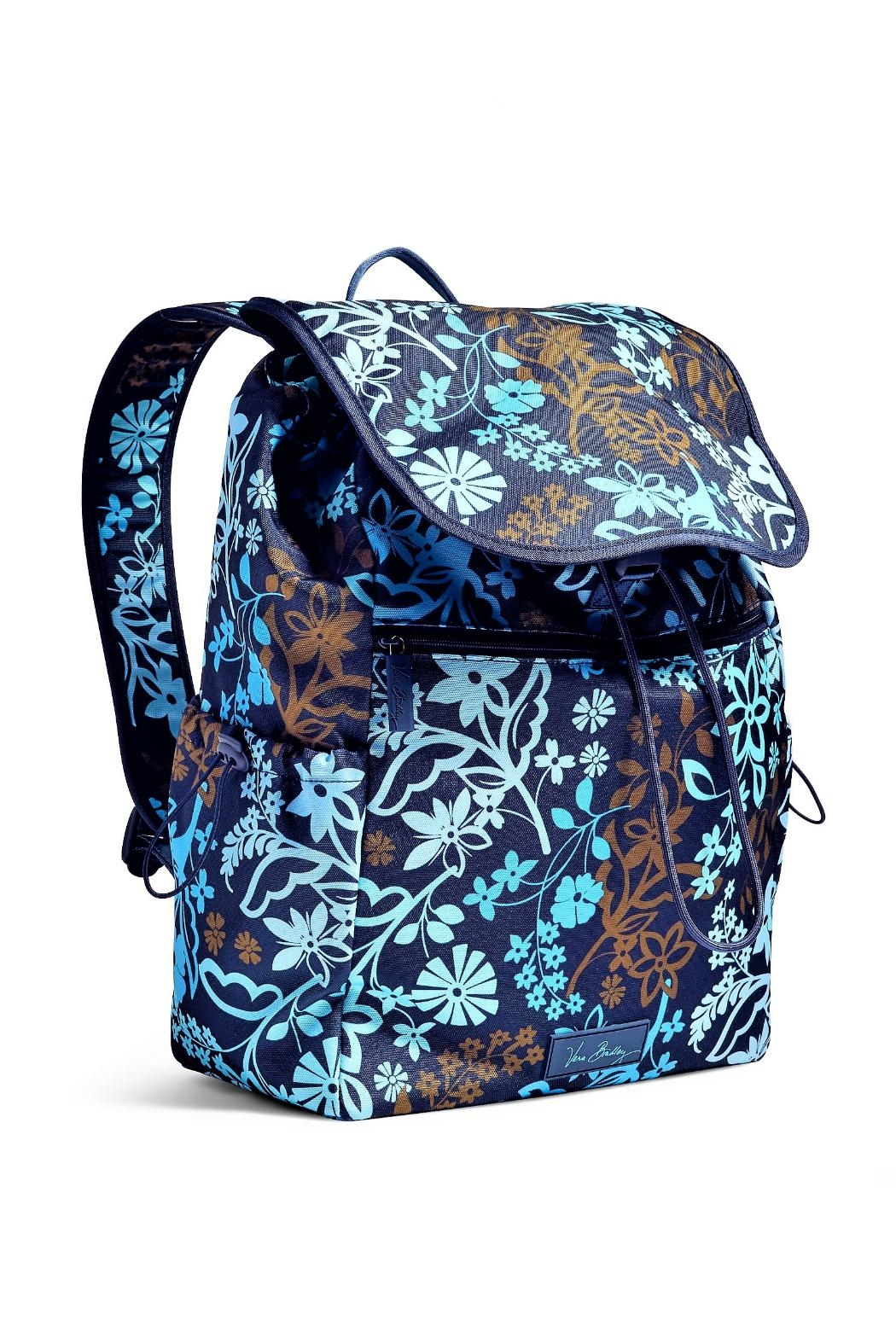Vera Bradley Java Floral Drawstring Backpack - Front Full Image