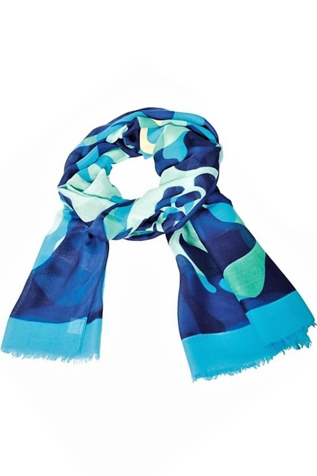 Vera Bradley Katalina Blues Scarf - Front Cropped Image