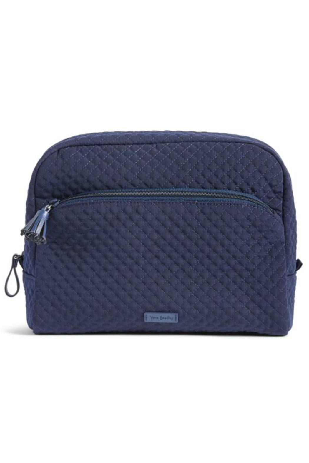 Vera Bradley Large Navy Cosmetic - Front Cropped Image