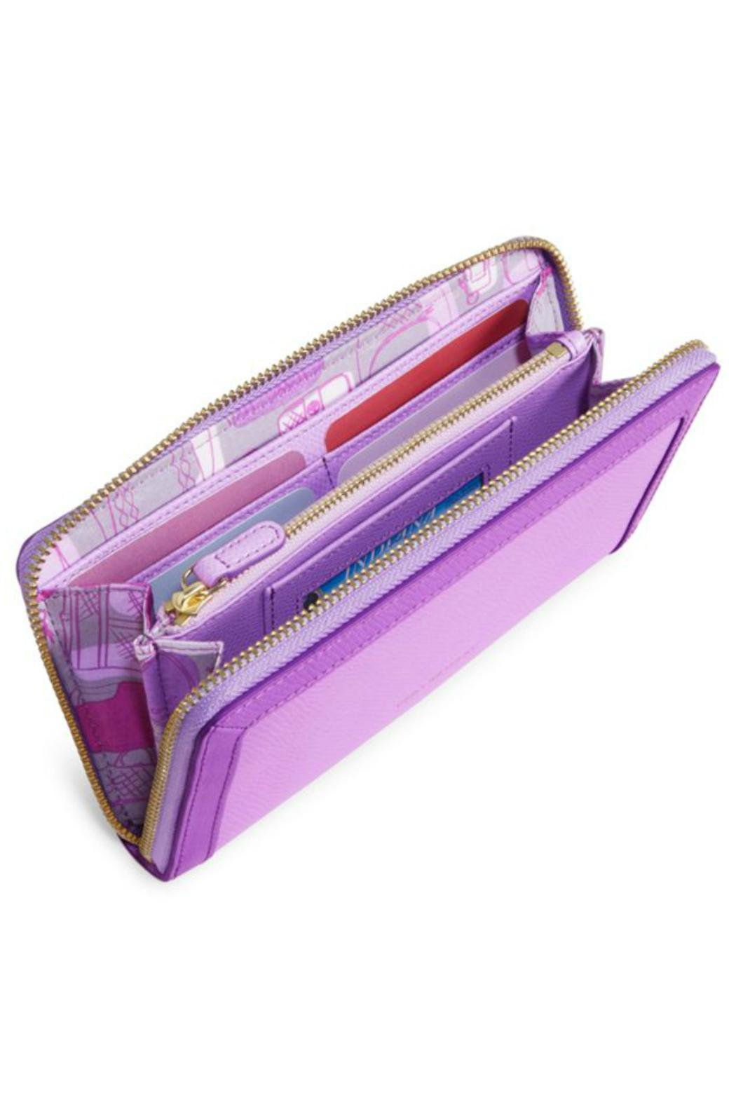 Vera Bradley Leather Lilac Wallet - Front Full Image