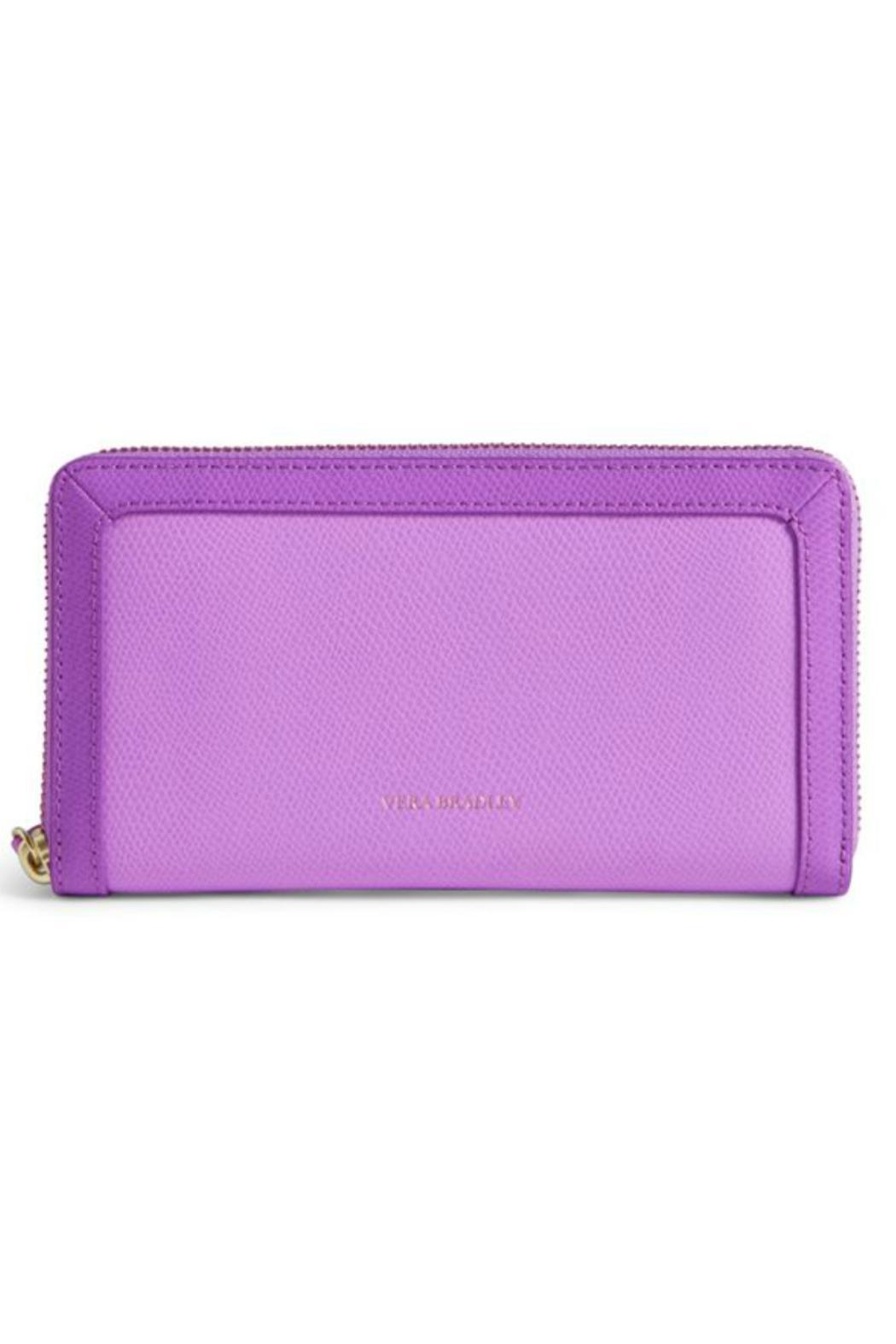 Vera Bradley Leather Lilac Wallet - Front Cropped Image