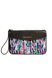 Vera Bradley Leather Trimmed Wristlet - Front cropped
