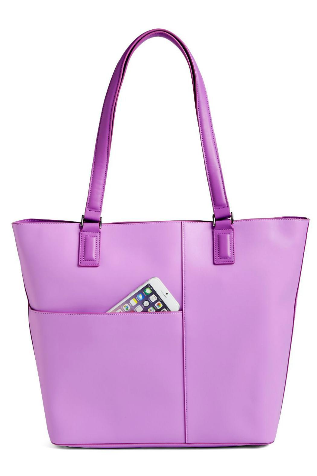 Vera Bradley Lilac Composition Tote - Front Cropped Image