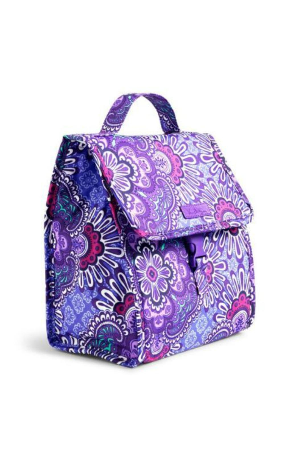26726fa32ea0 Vera Bradley Lilac Tapestry Lunch Sack Front Full Image