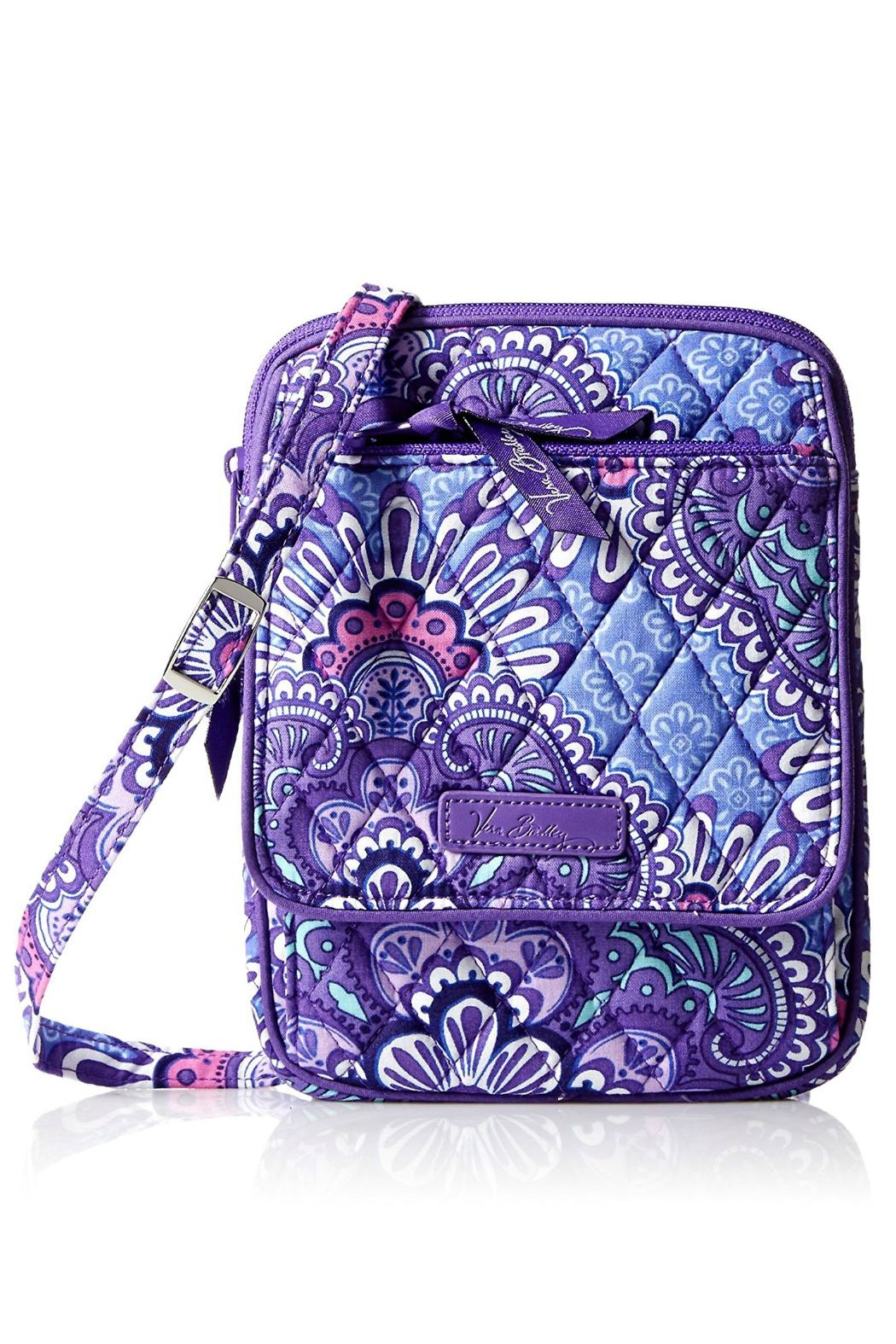Vera Bradley Lilac Tapestry Mini-Hipster - Front Cropped Image