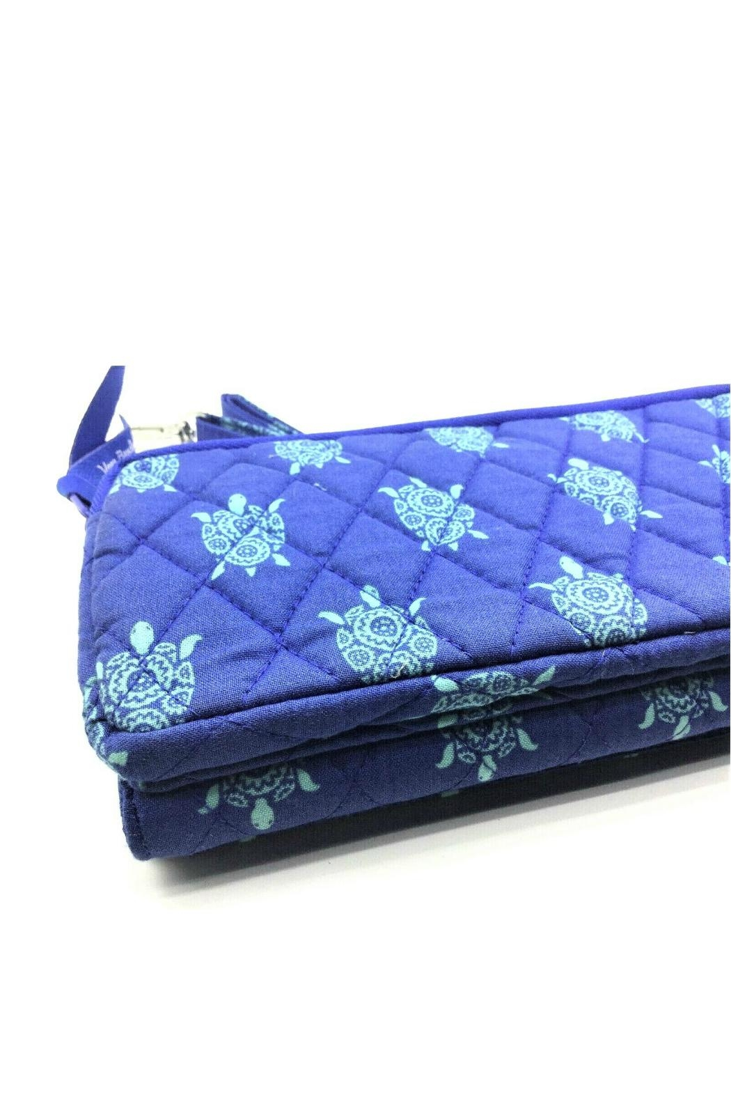 Vera Bradley Marine Turtles Wallet-Crossbody - Side Cropped Image