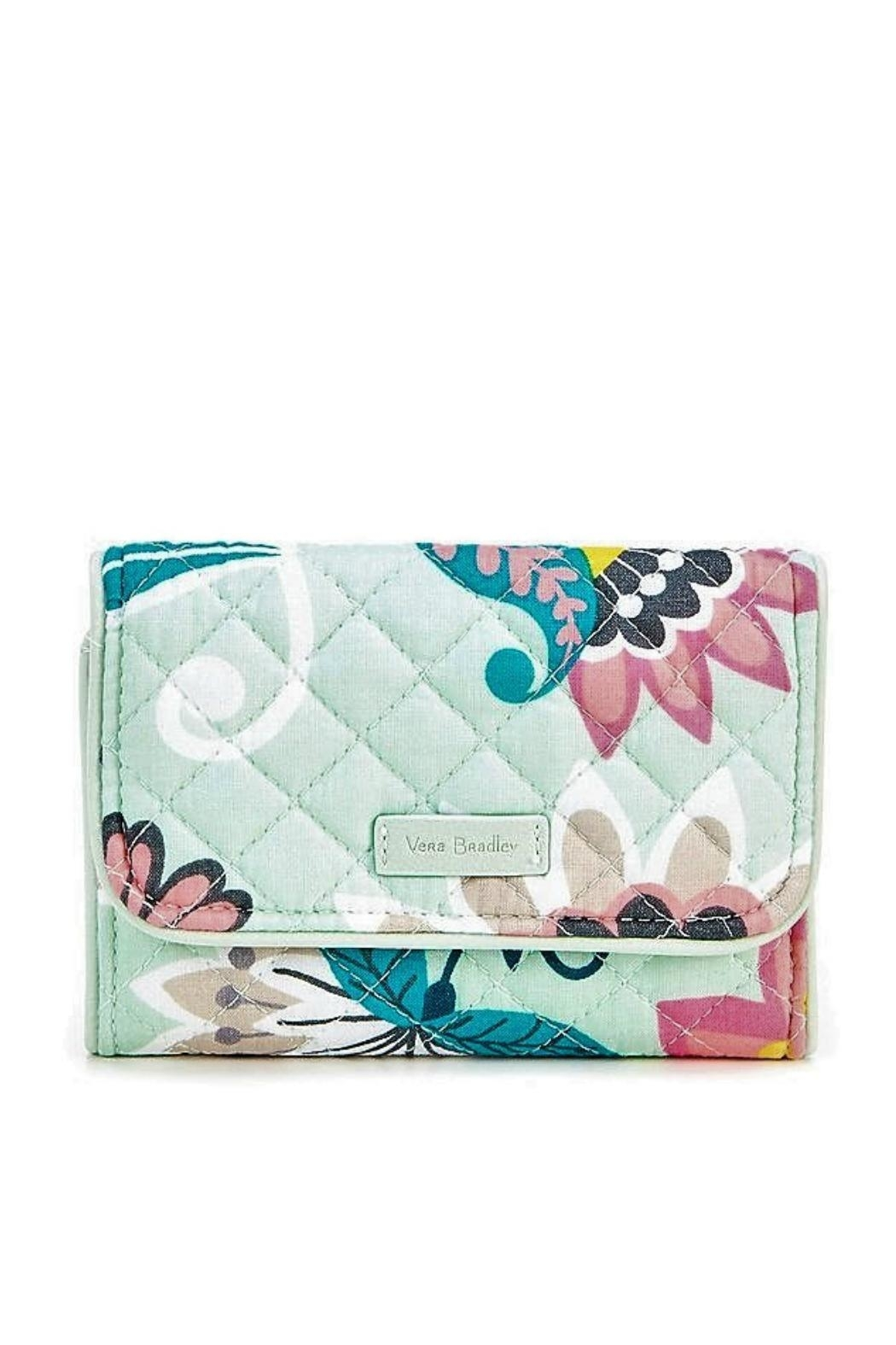 Vera Bradley Mint Flowers Riley - Front Cropped Image