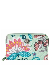 Vera Bradley Mint Flowers Turnlock - Product Mini Image