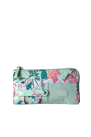 Vera Bradley Mint Flowers Ultimate-Card-Case - Front cropped