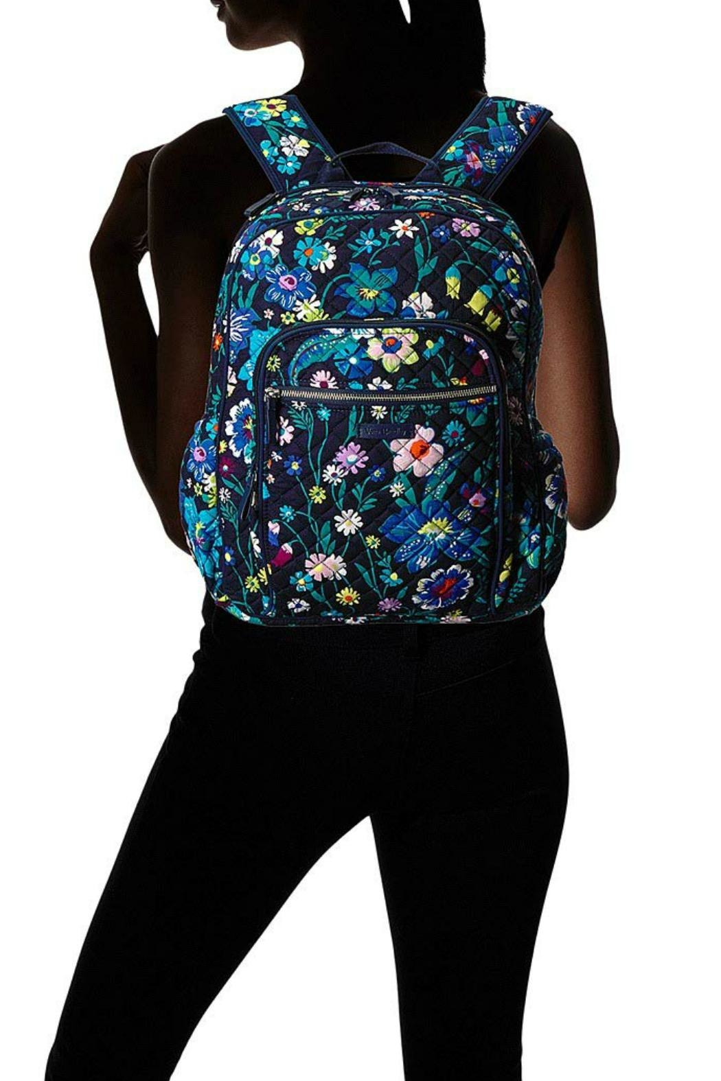 Vera Bradley Moonlight Garden Campus-Backpack - Back Cropped Image