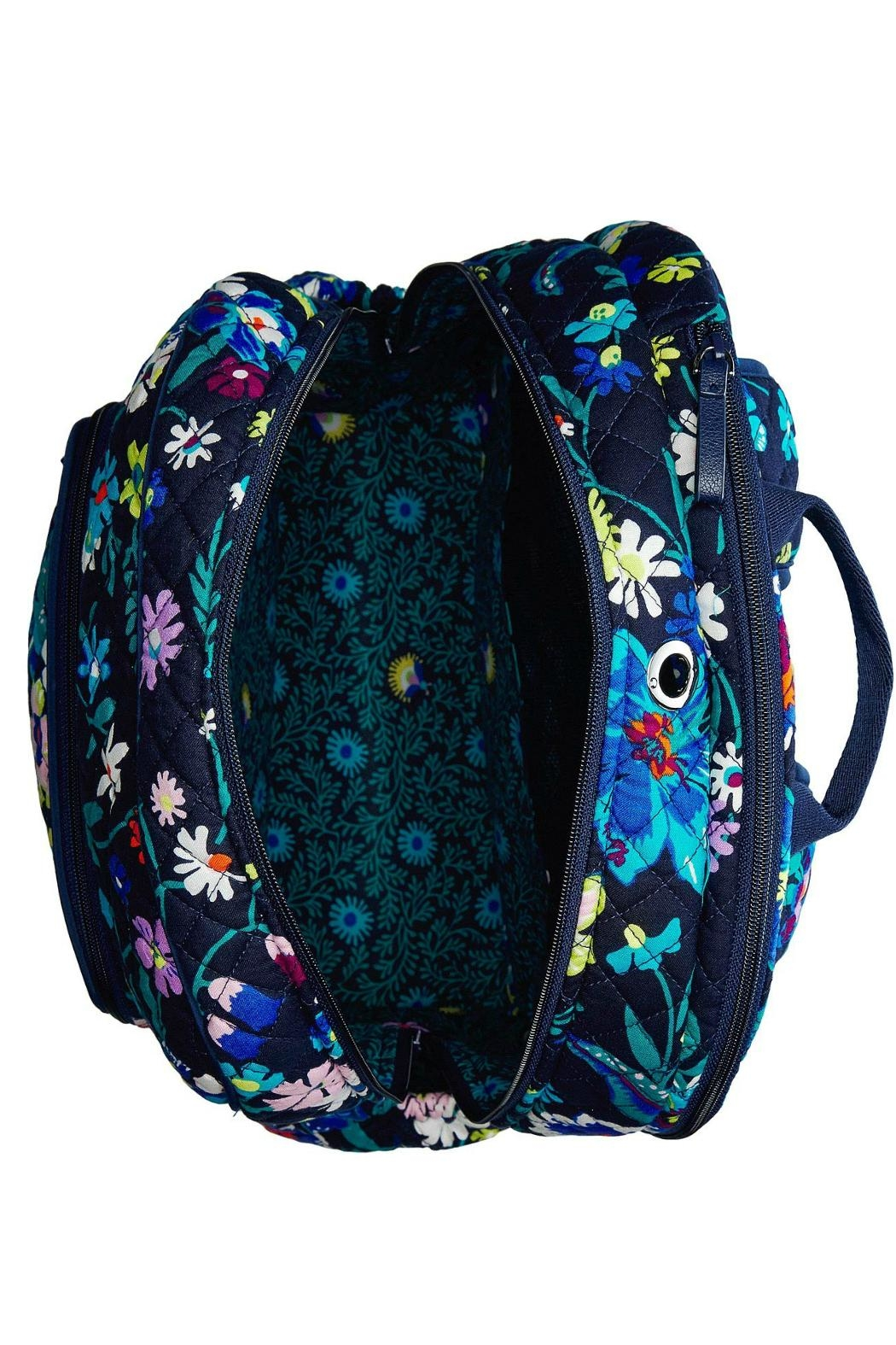Vera Bradley Moonlight Garden Campus-Backpack - Side Cropped Image