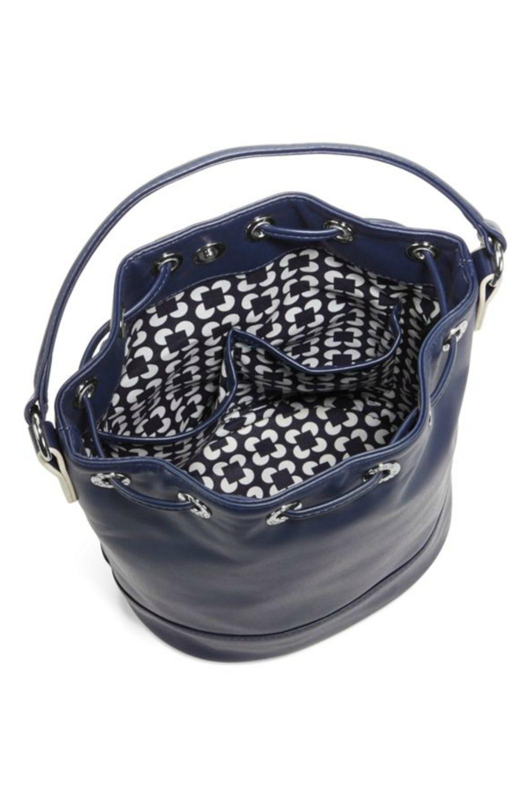 Vera Bradley Navy Bucket Crossbody - Front Full Image