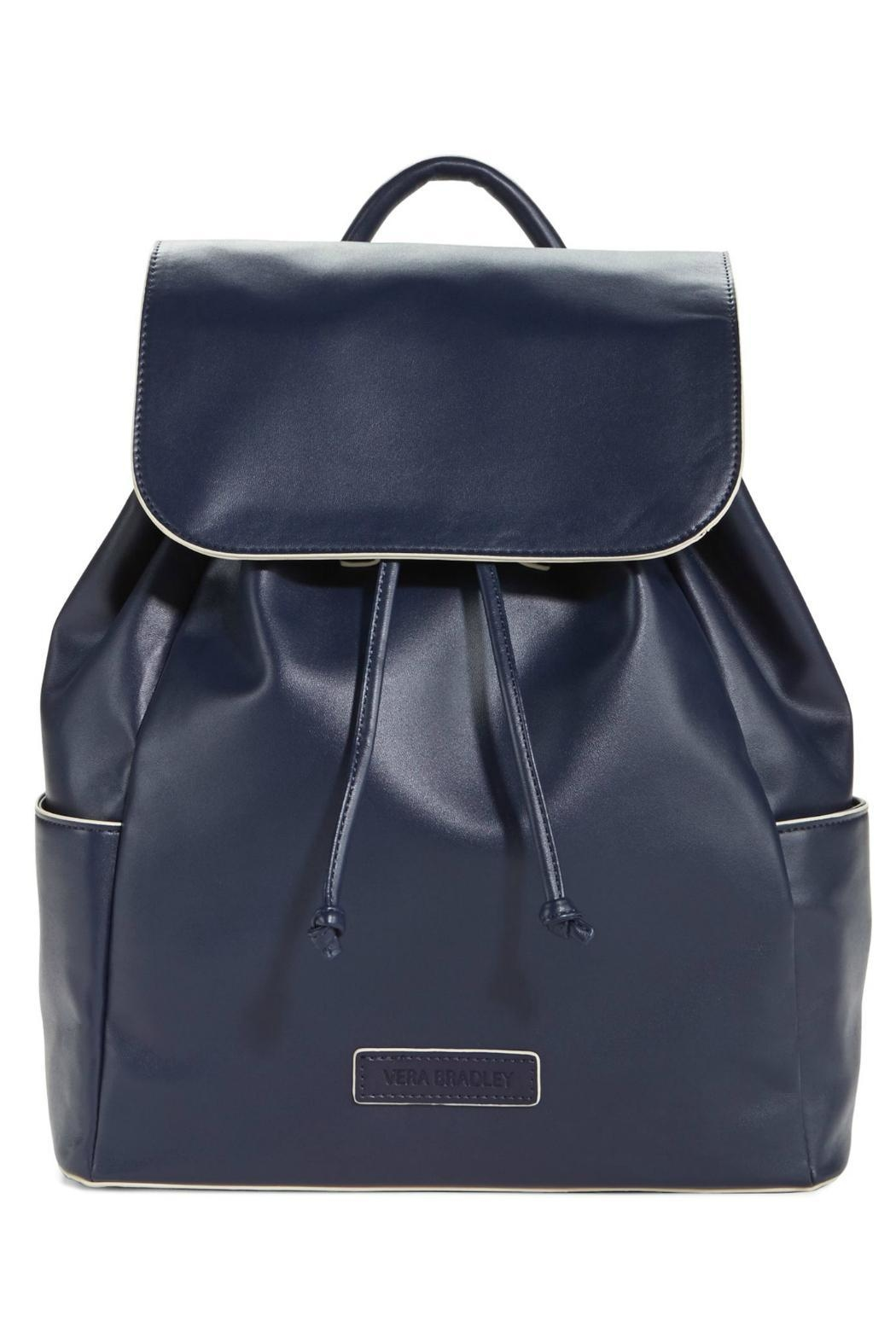 Vera Bradley Navy Drawstring Backpack - Main Image