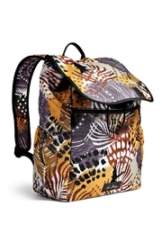 Vera Bradley Painted Feathers Drawstring Backpack - Front full body