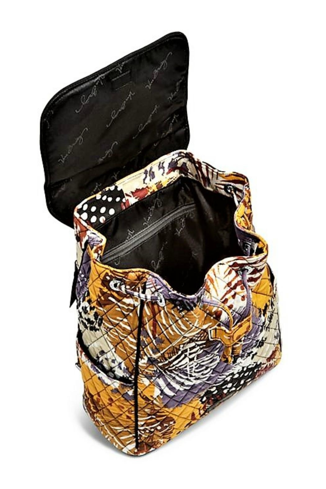Vera Bradley Painted Feathers Drawstring Backpack - Side Cropped Image
