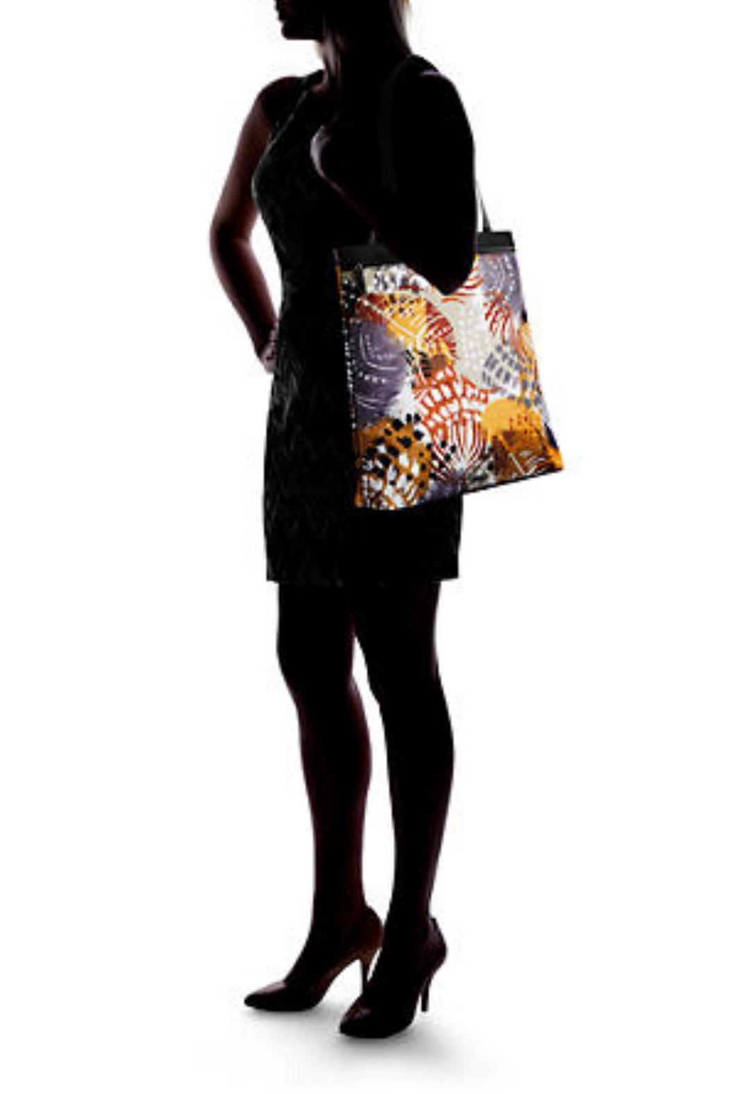 Vera Bradley Painted Feathers Tote - Back Cropped Image