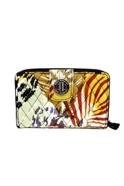 Vera Bradley Painted Feathers Turnlock - Front cropped