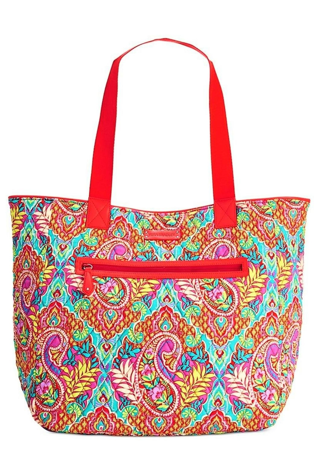 Vera Bradley Paisley Reversible Tote - Front Cropped Image