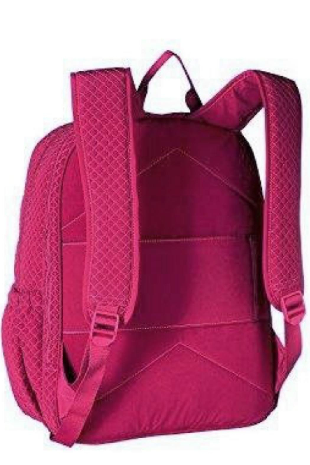 Vera Bradley Passion Pink Campus-Backpack - Back Cropped Image