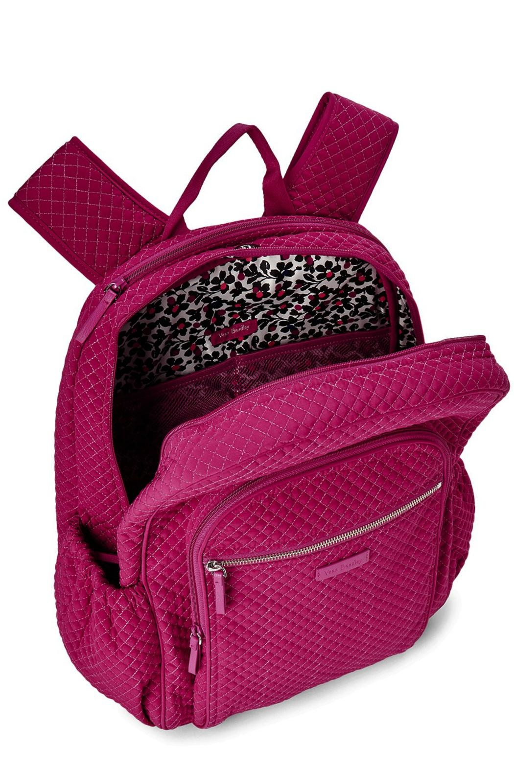 Vera Bradley Passion Pink Campus-Backpack - Front Full Image