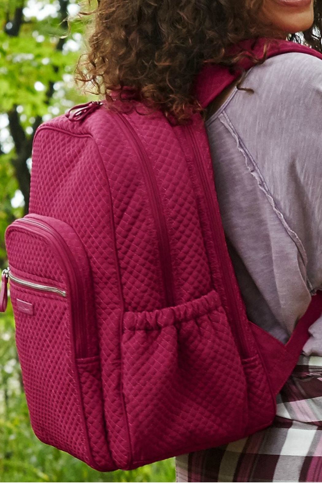 Vera Bradley Passion Pink Campus-Backpack - Side Cropped Image