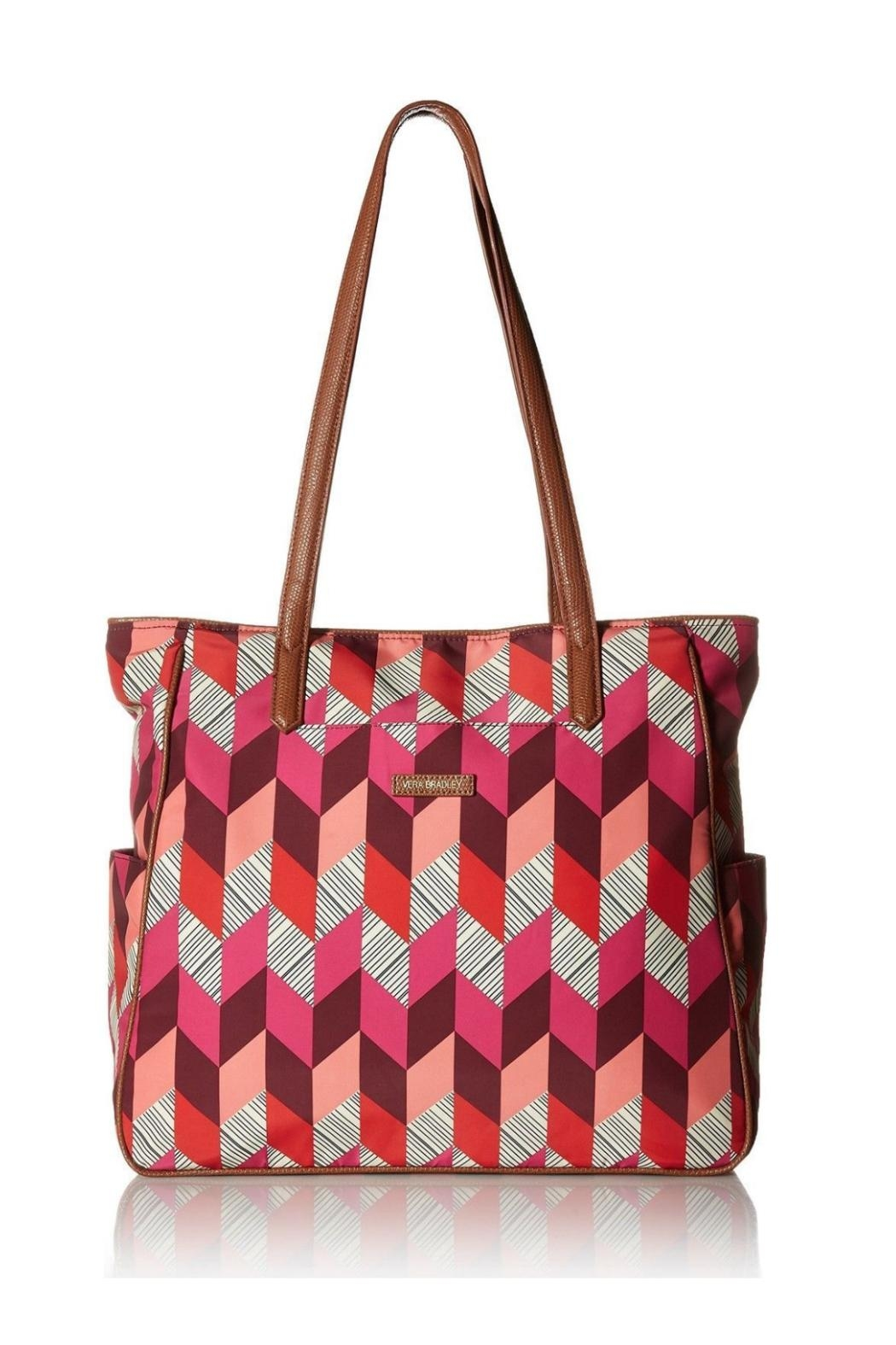 Vera Bradley Preppy Poly Bohemian Tote - Front Cropped Image