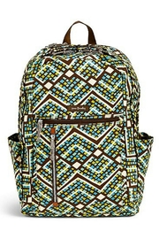 Vera Bradley Rain Forest Laptop-Backpack - Front cropped