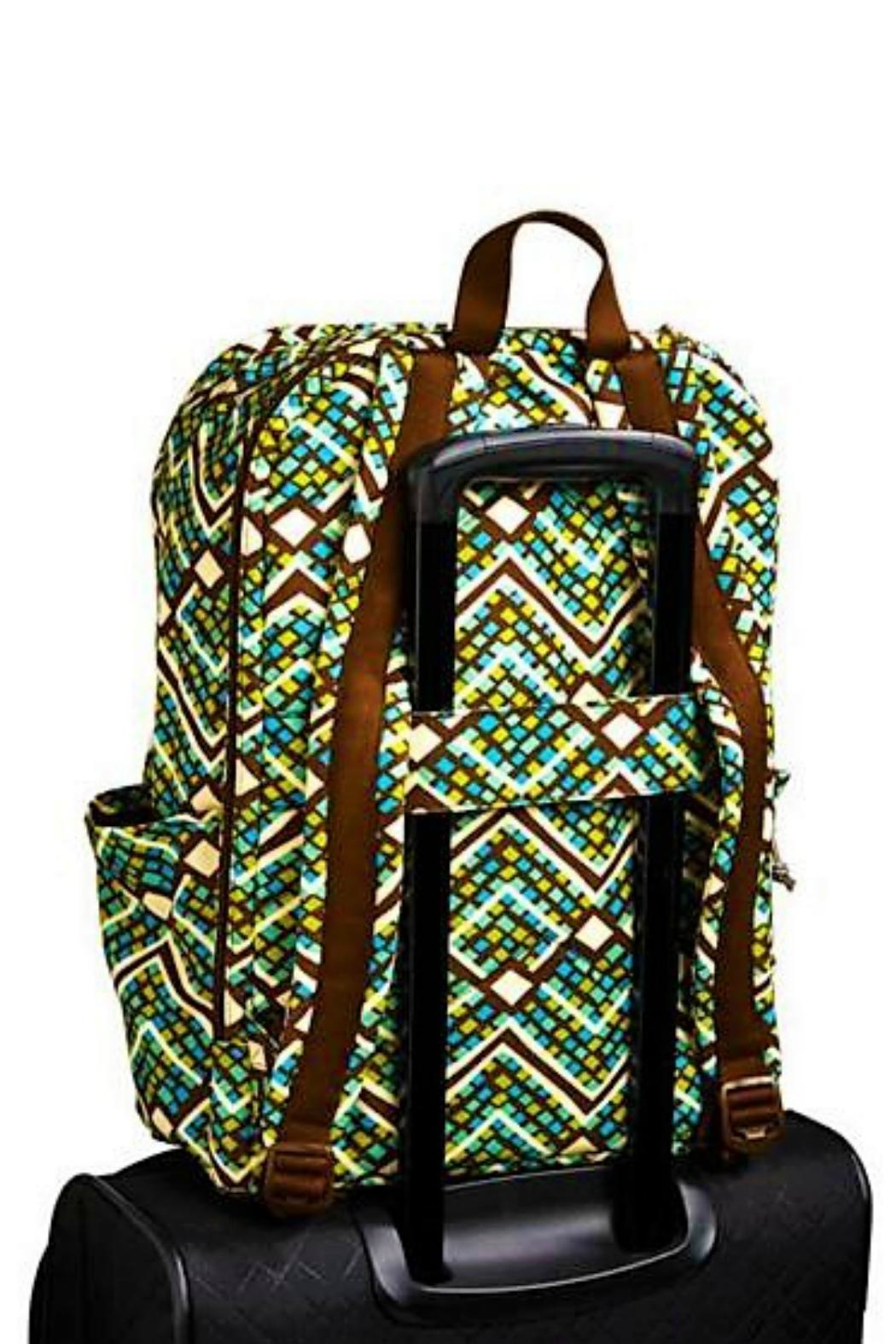 Vera Bradley Rain Forest Laptop-Backpack - Back Cropped Image