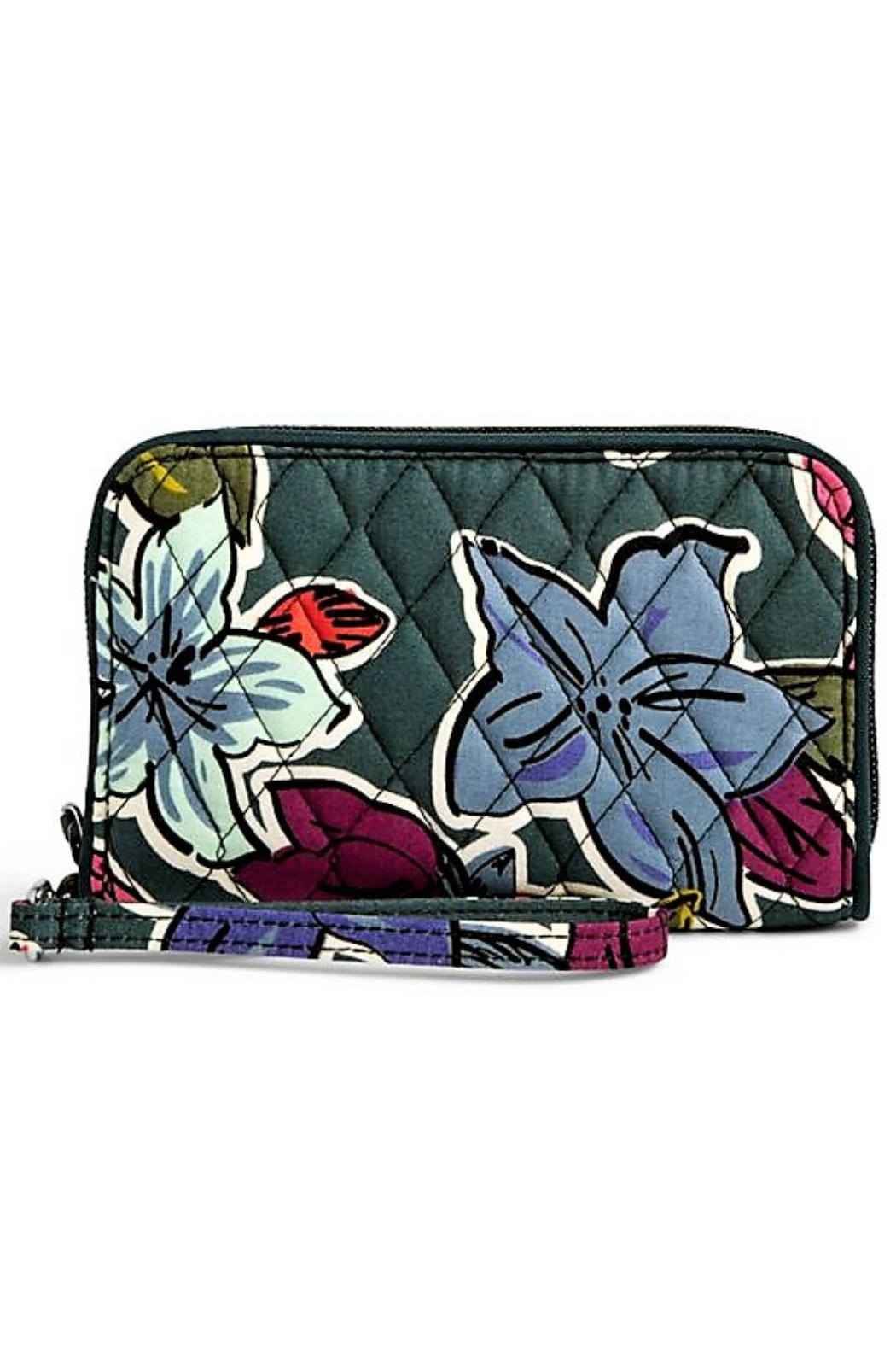 Vera Bradley Rfid Falling Flowers Wristlet - Front Cropped Image