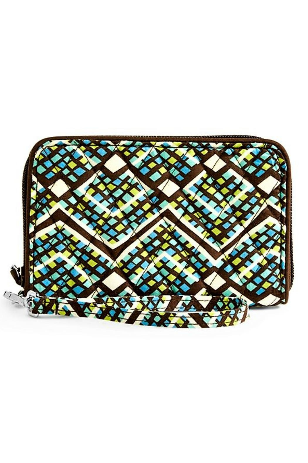 Vera Bradley Rain Forest Wristlet - Front Cropped Image