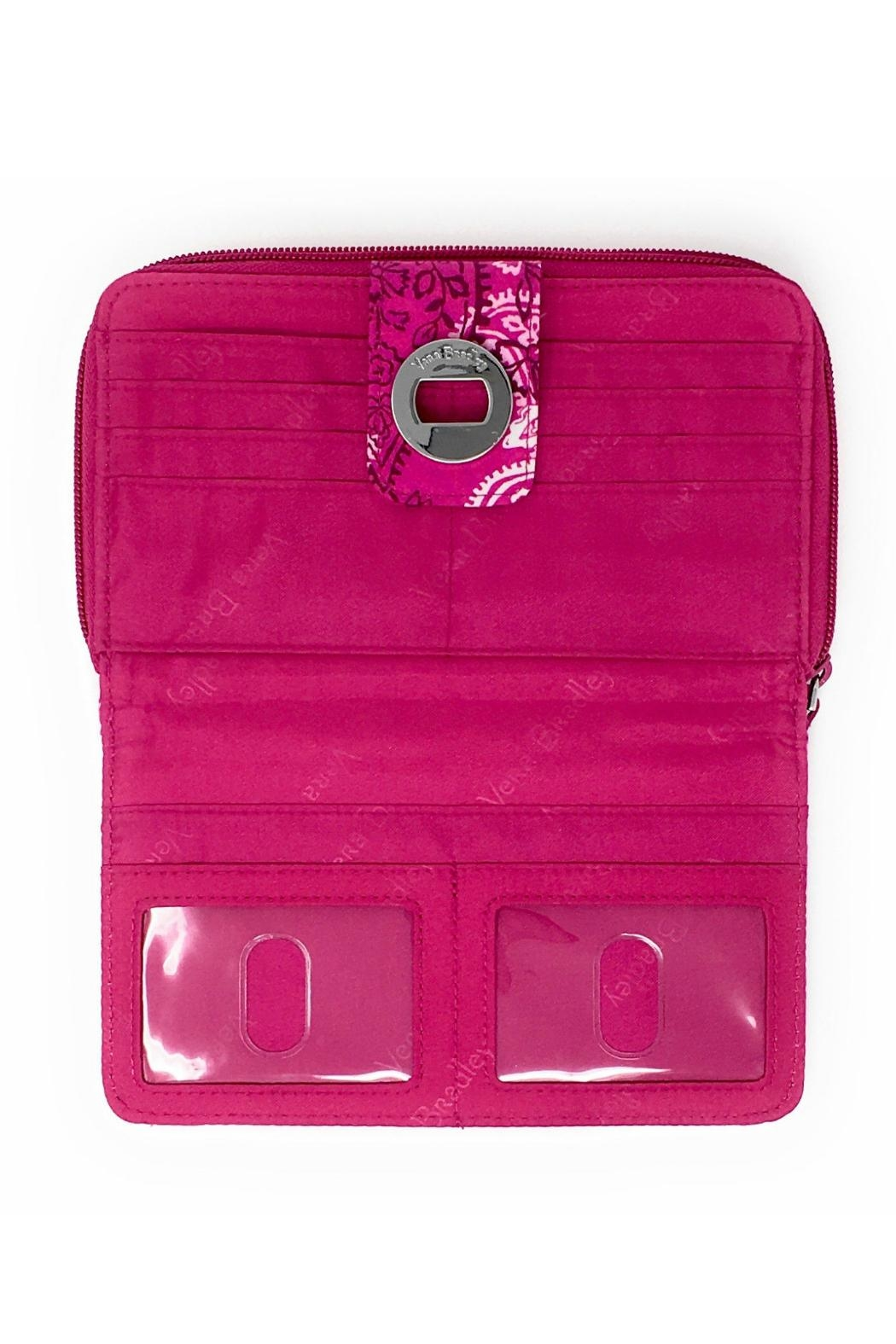 Vera Bradley Stamped Paisley Turnlock-Wallet - Side Cropped Image