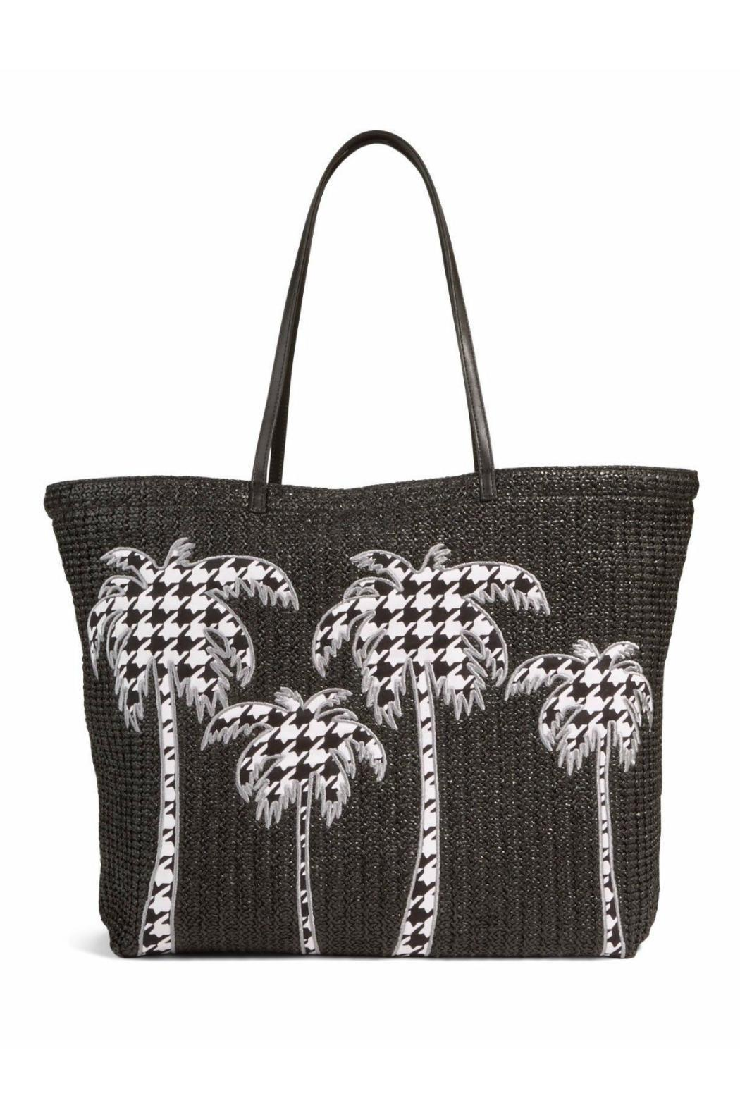 Vera Bradley Straw Midnight Houndstooth - Front Cropped Image