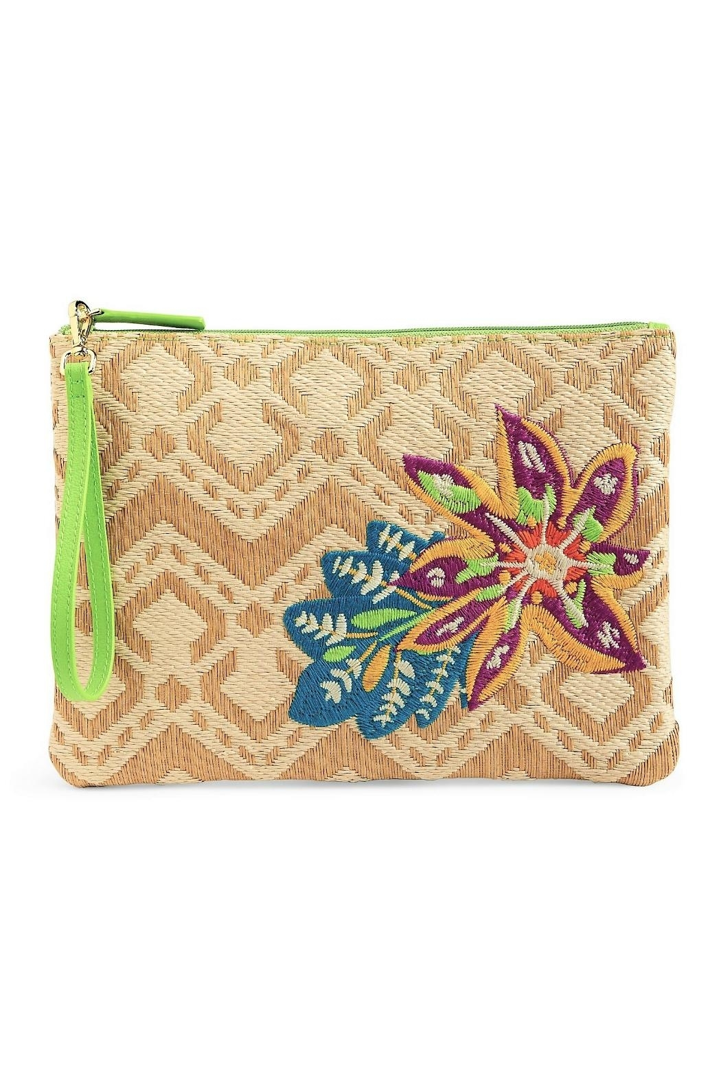 Vera Bradley Straw Natural Chevron - Front Cropped Image