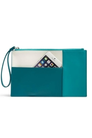 Vera Bradley Teal Composition Wristlet - Product Mini Image