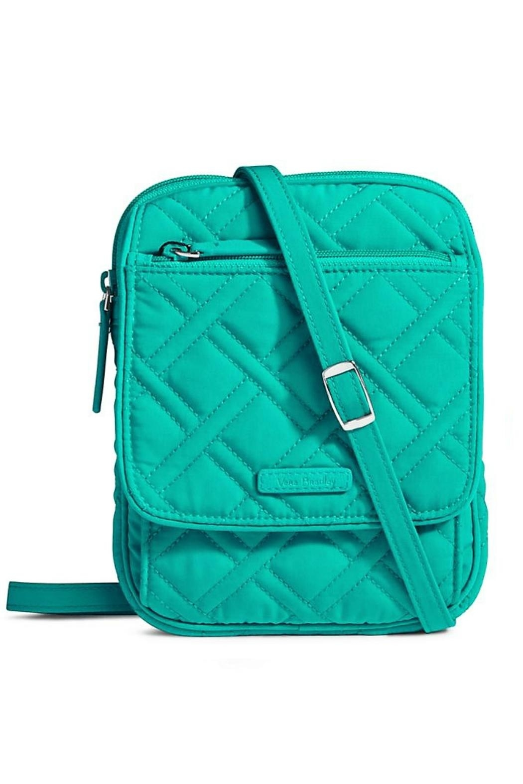 Vera Bradley Turquoise Sea Crossbody Bag - Front Cropped Image
