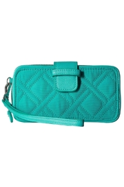 Vera Bradley Turquoise Sea Smartphone-Wristlet - Front cropped