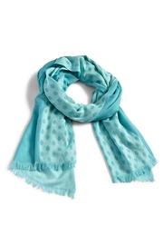 Vera Bradley Two-Tone Teal Scarf - Front cropped