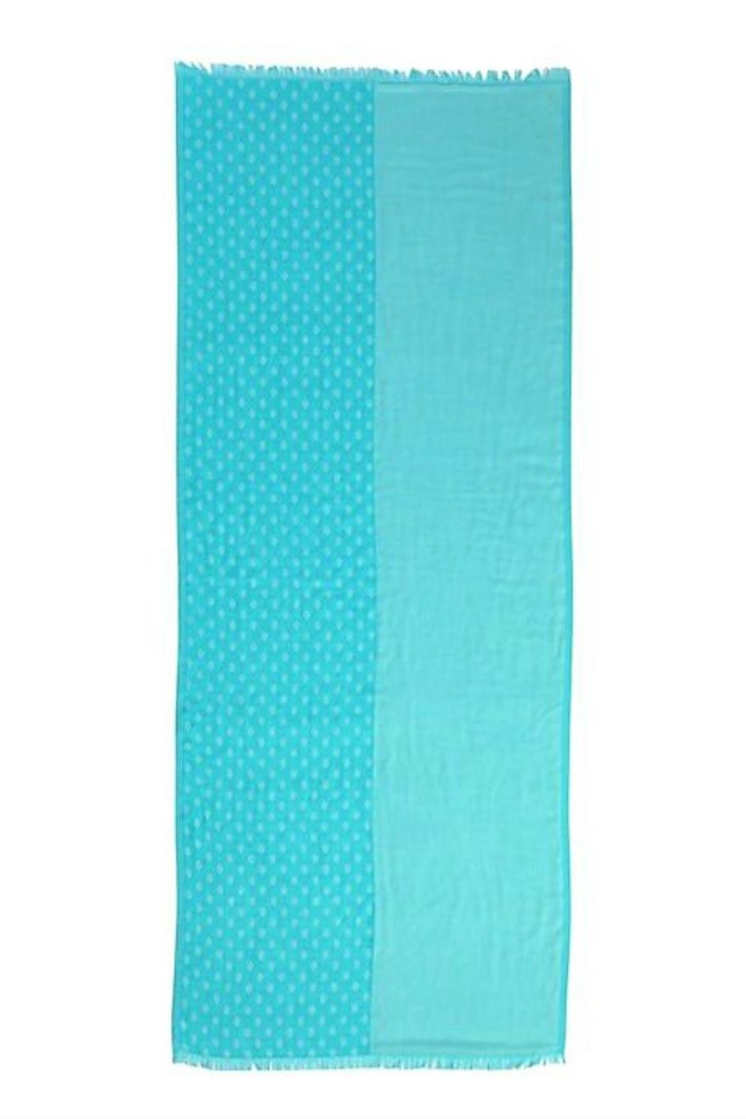 Vera Bradley Two-Tone Teal Scarf - Front Full Image